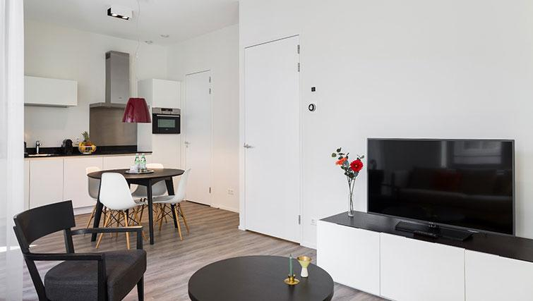 Living space at Gershwin Serviced Apartments, Amsterdam - Citybase Apartments