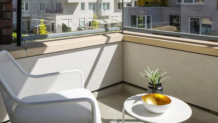 Balcony area at Gershwin Serviced Apartments, Amsterdam - Citybase Apartments