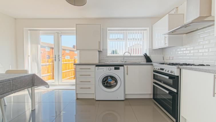 Washing machine at the Sutton Vale Serviced Apartment - Citybase Apartments