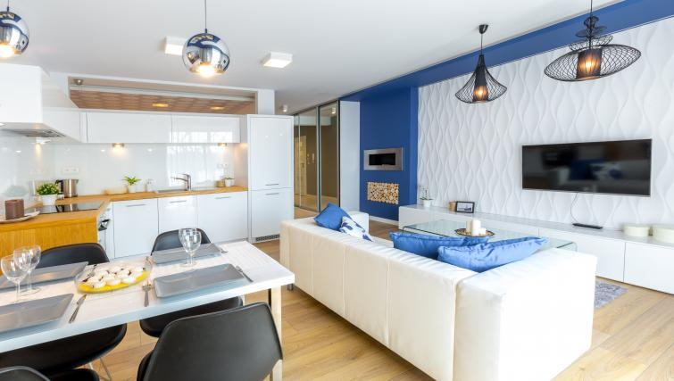 Modern bedroom at Old Town Apartments - Citybase Apartments