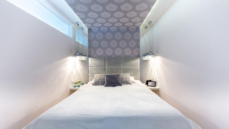 Stylish bedroom at Old Town Apartments - Citybase Apartments