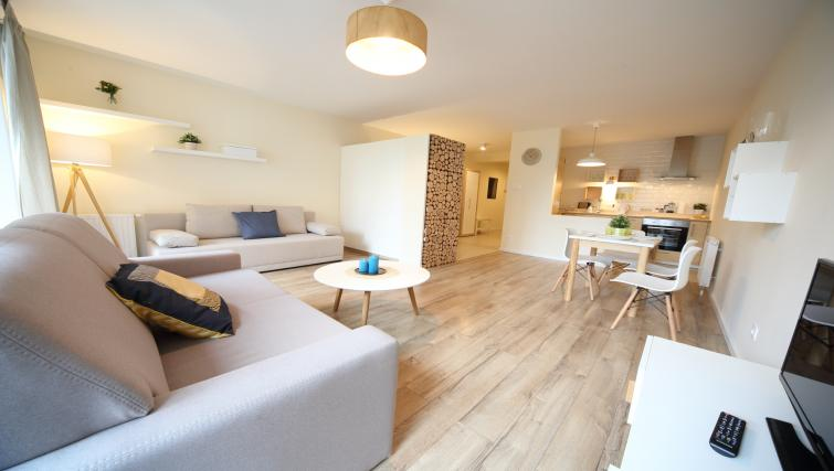 open-plan living area at Old Town Apartments - Citybase Apartments