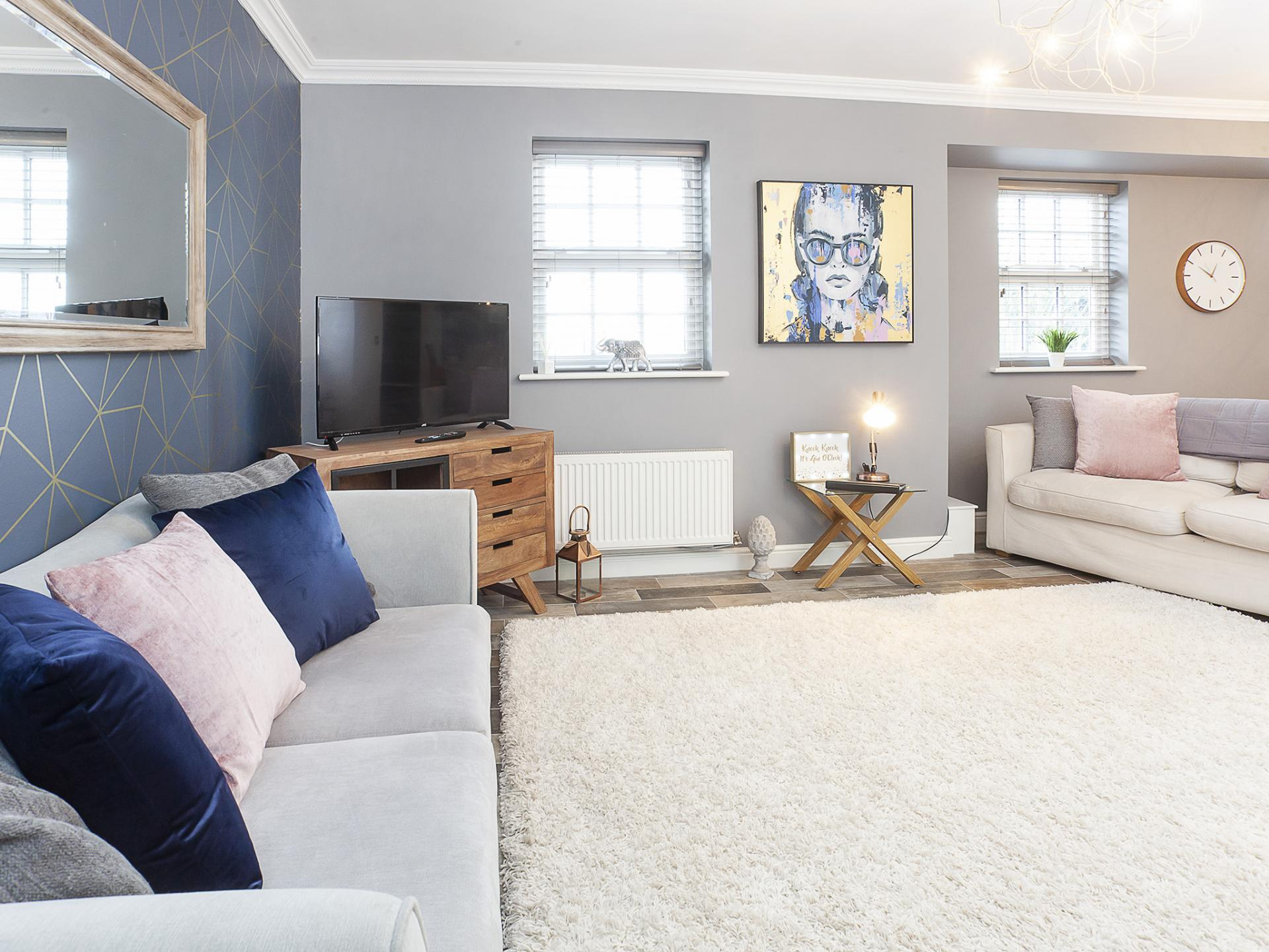 Welcoming lounge at The Station apartment, Centre, York - Citybase Apartments