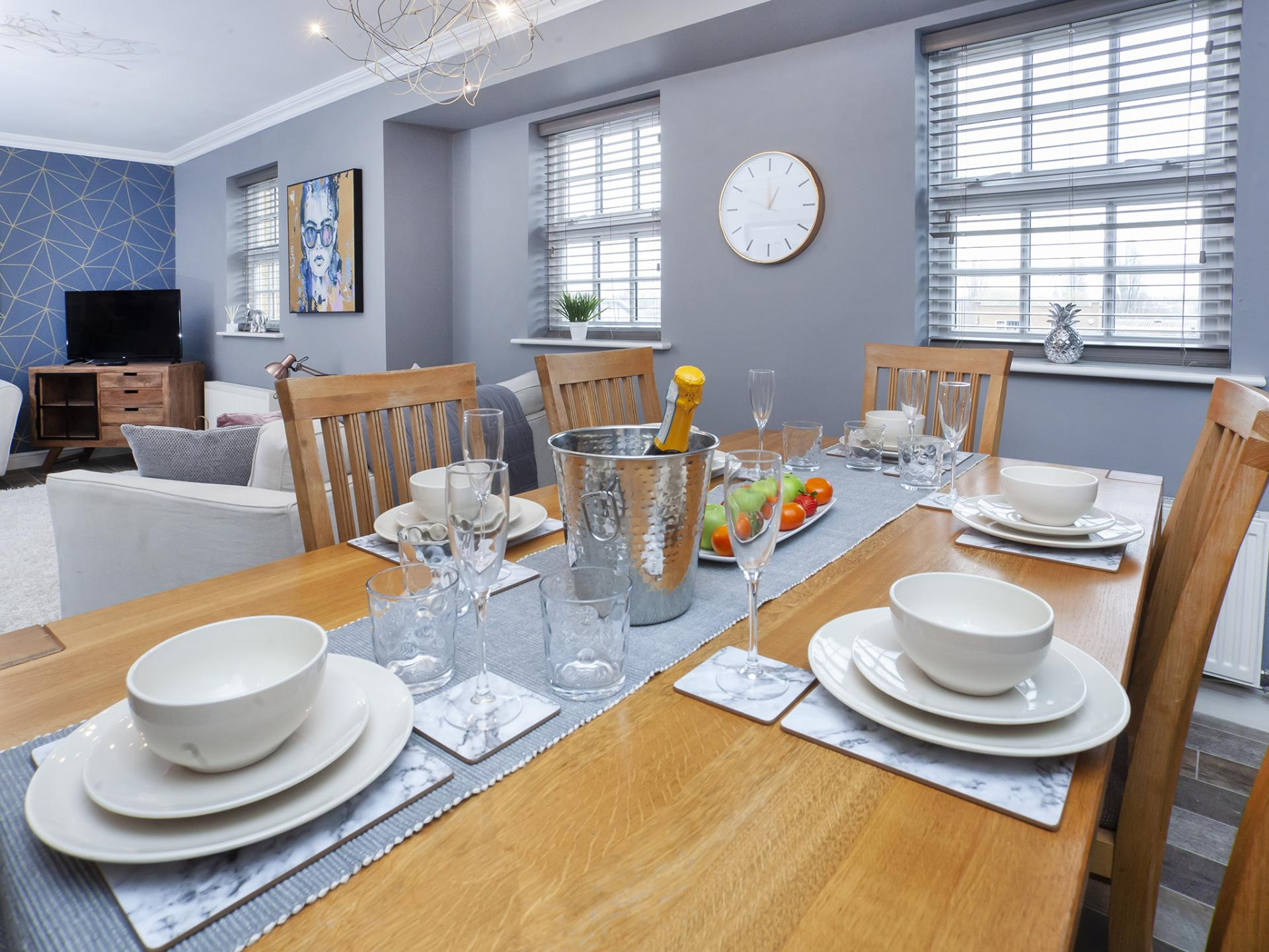 Dining table at The Station apartment, Centre, York - Citybase Apartments