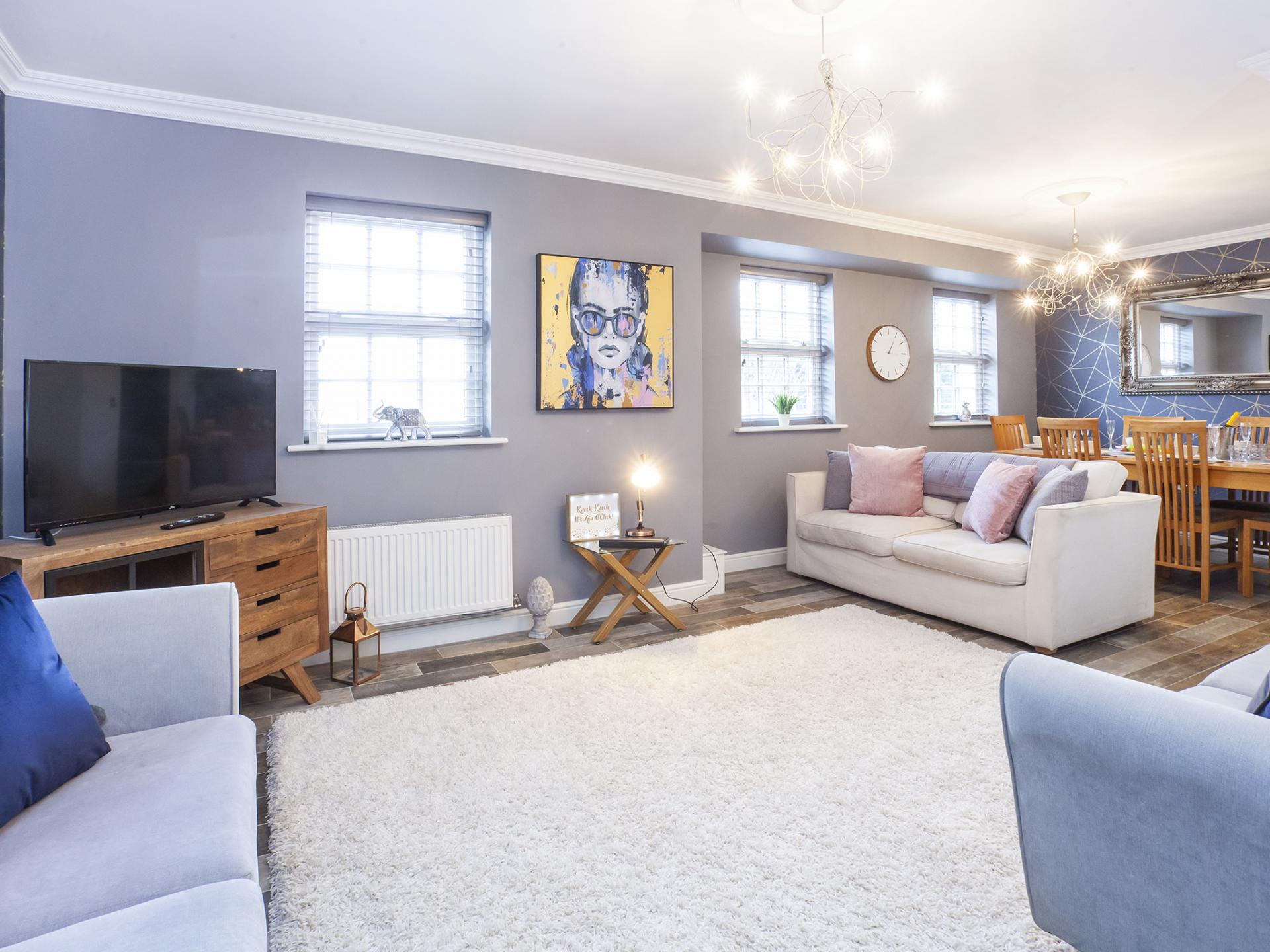 Light living area at The Station apartment, Centre, York - Citybase Apartments