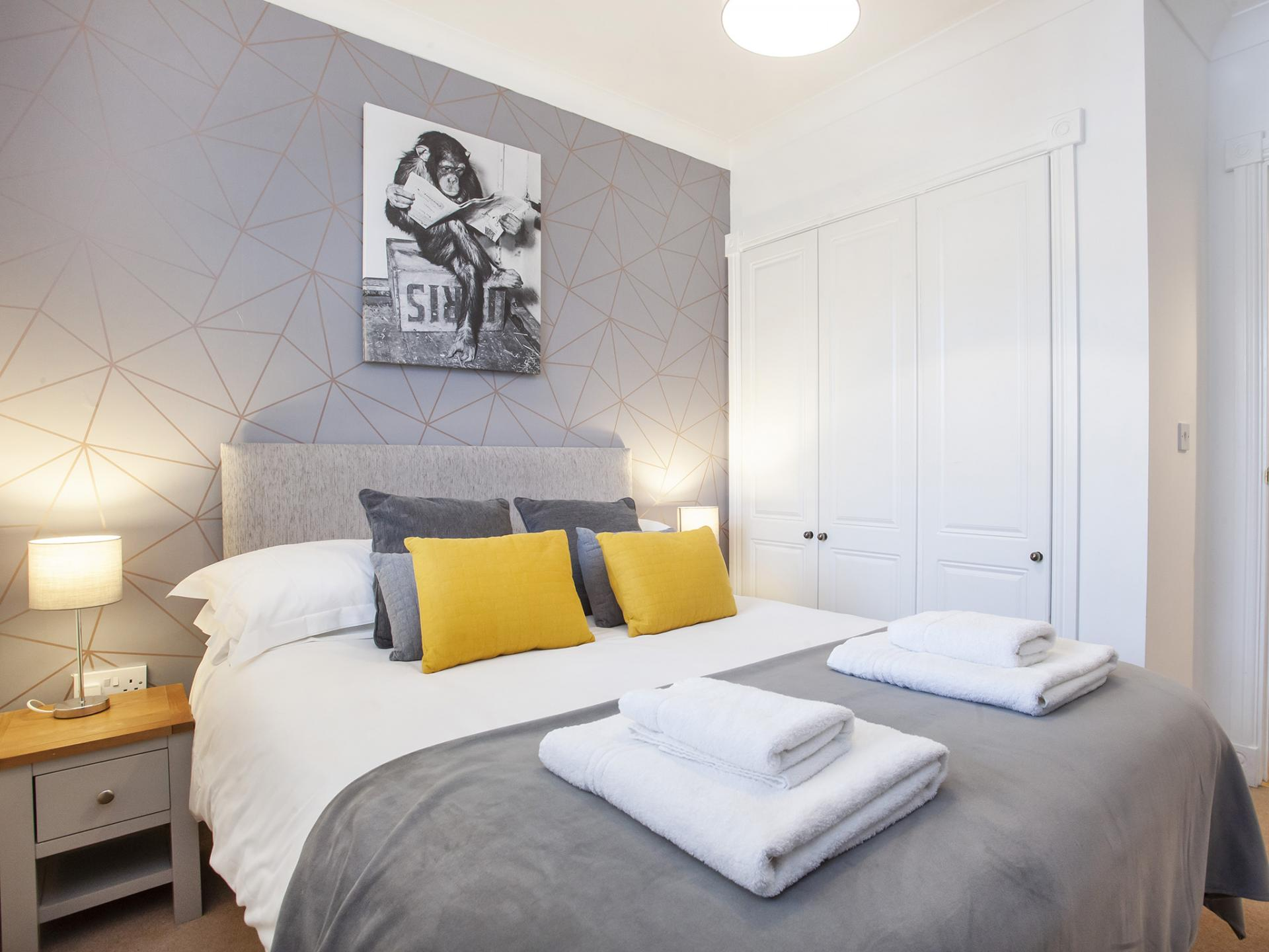 Relaxing Bedroom at The Station apartment, Centre, York - Citybase Apartments