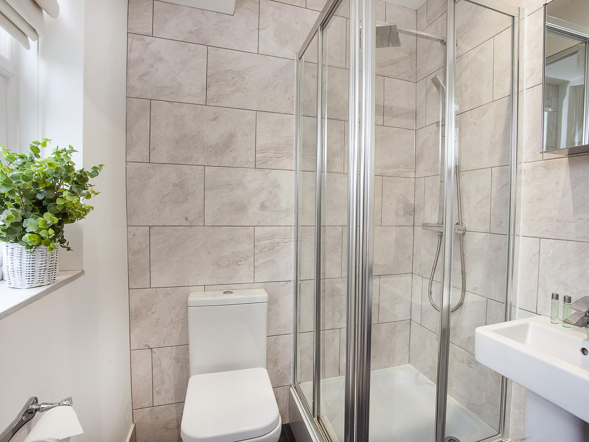 Shower room at The Station apartment, Centre, York - Citybase Apartments