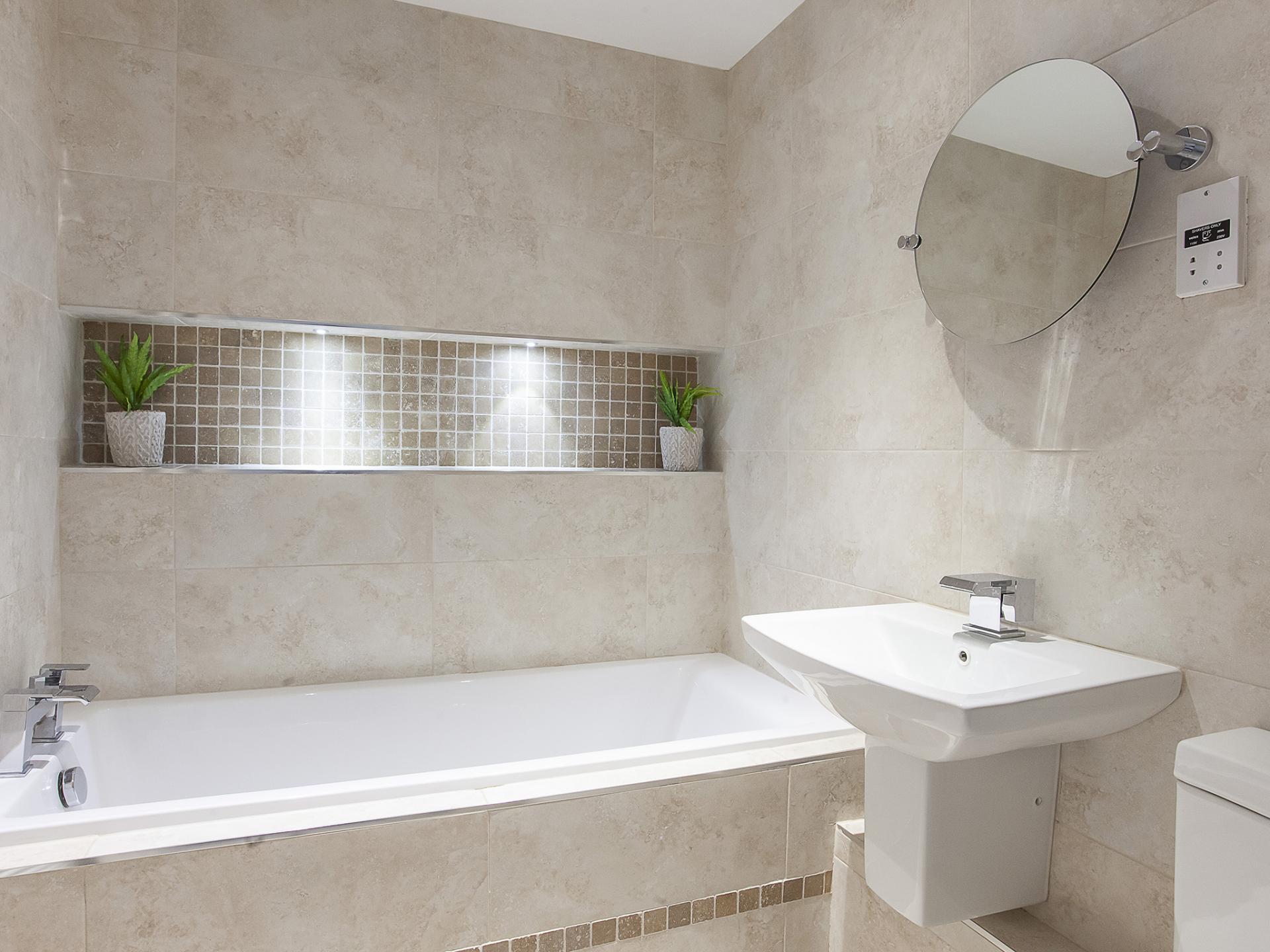 Bath at Fountains View Apartment - Citybase Apartments