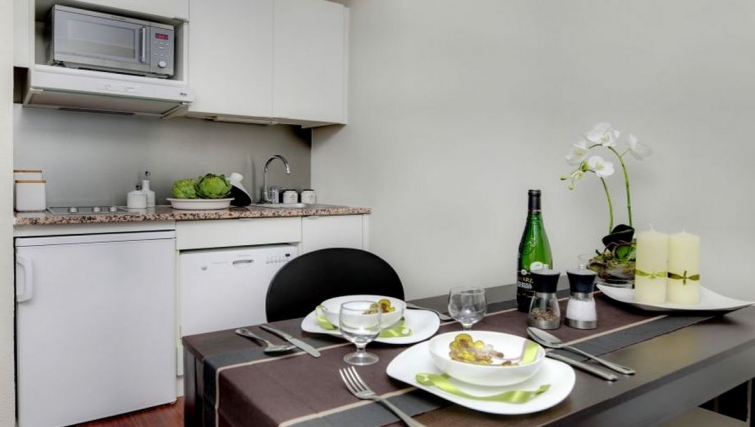 Compact kitchen in Citadines Part-Dieu Apartments - Citybase Apartments