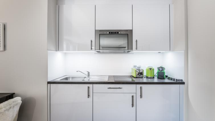 Kitchen at the Noirettes Studios - Citybase Apartments