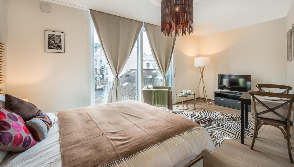 Curtains at the Noirettes Studios - Citybase Apartments