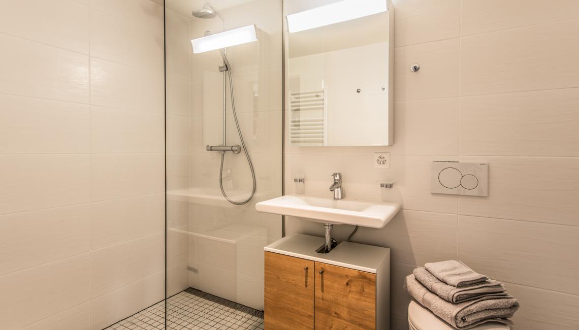 Shower at the Noirettes Studios - Citybase Apartments
