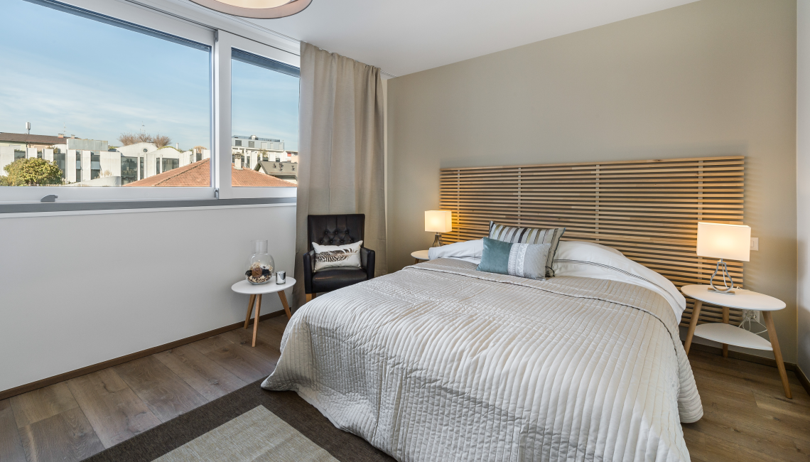 Bedroom view at the Noirettes Studios - Citybase Apartments