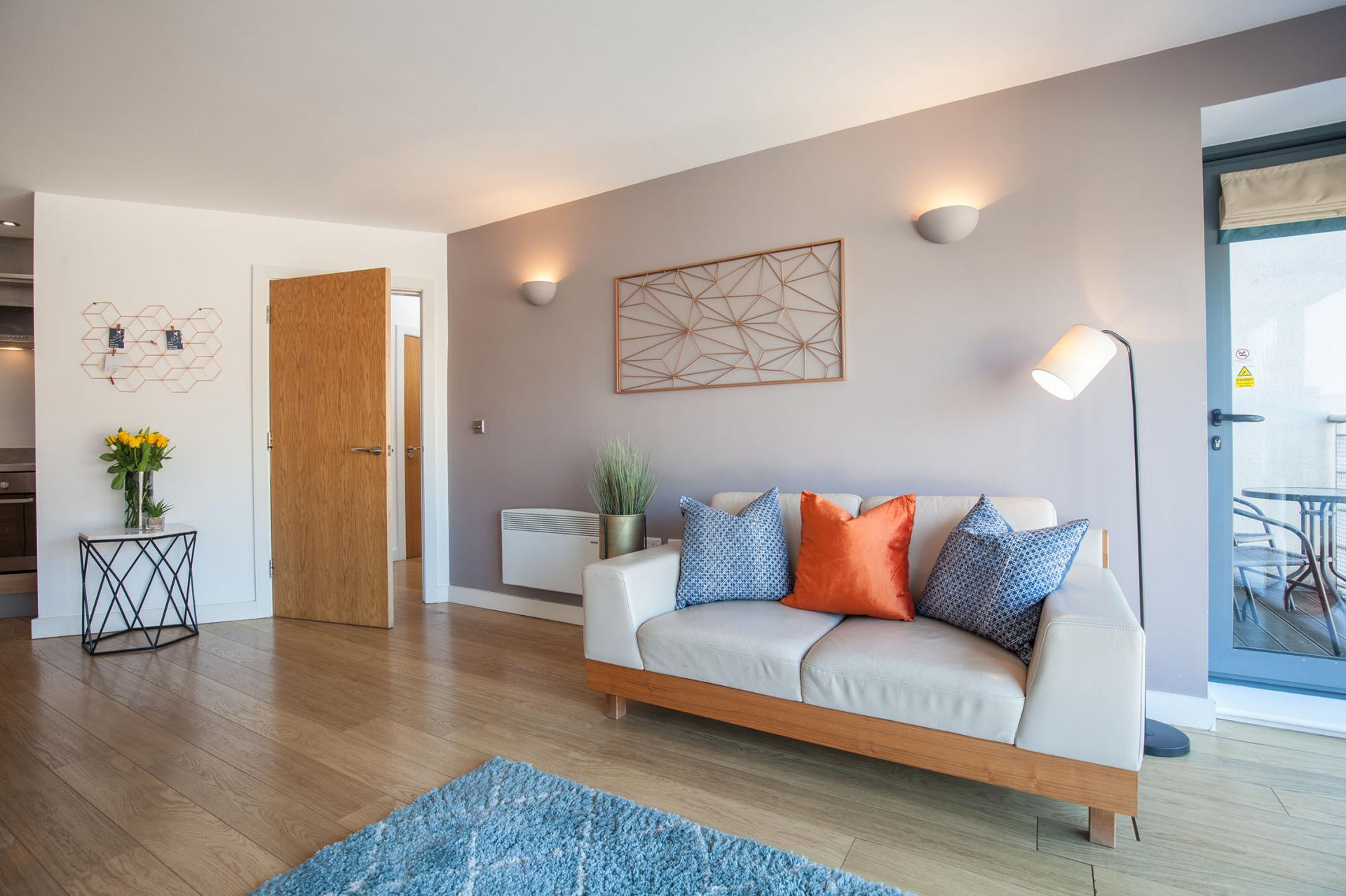 Spacious living area at Waterloo Court Apartments - Citybase Apartments