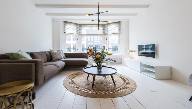 Living room at Jordaan Harlem Apartments, Amsterdam - Citybase Apartments