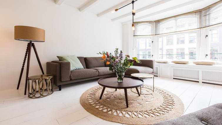 Living area at Jordaan Harlem Apartments, Amsterdam - Citybase Apartments