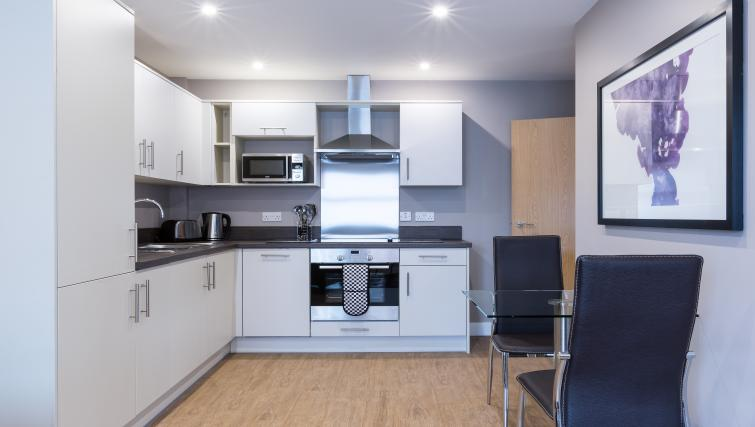Kitchen area at City Wall House - Citybase Apartments