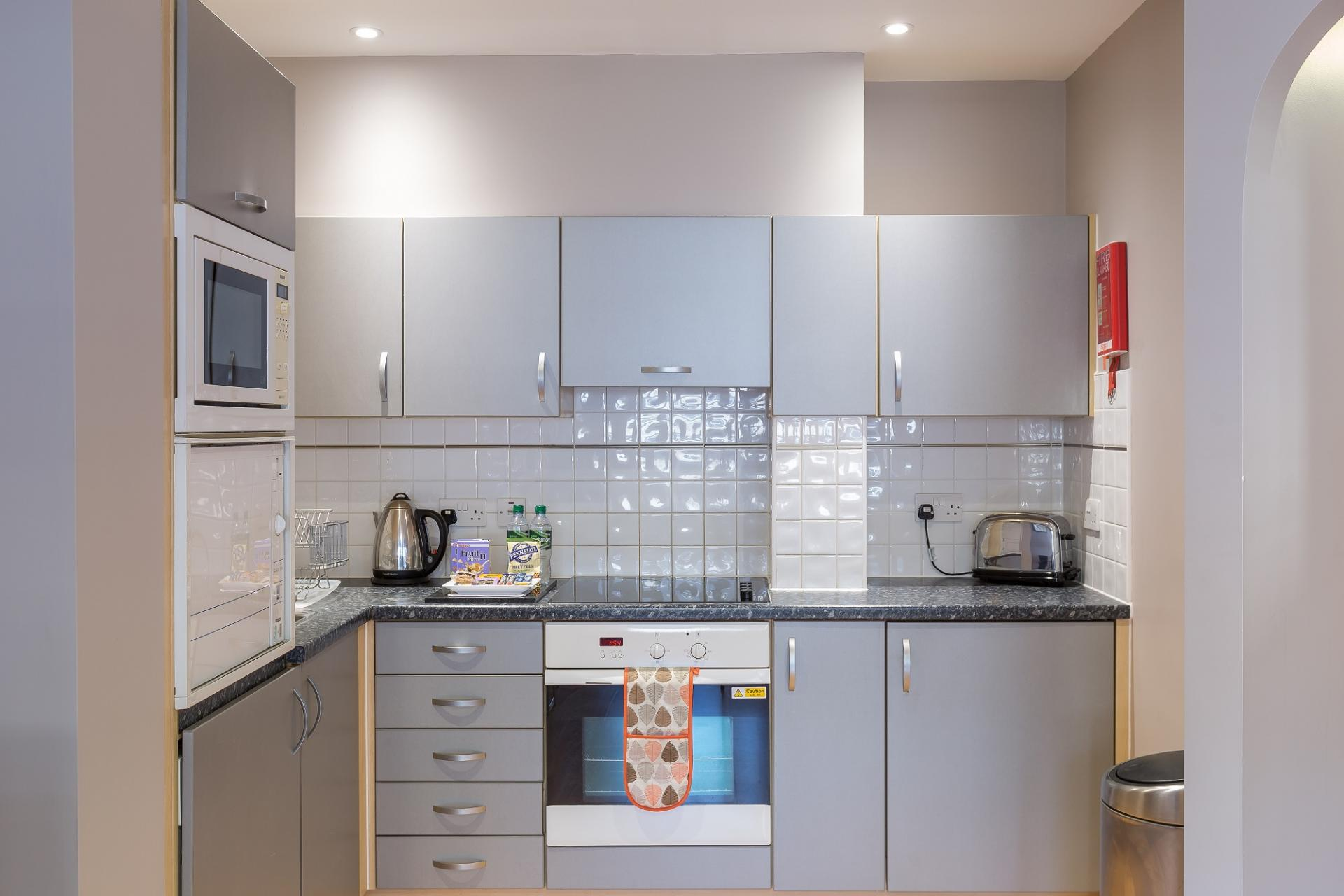 Kitchen at City Wall House - Citybase Apartments