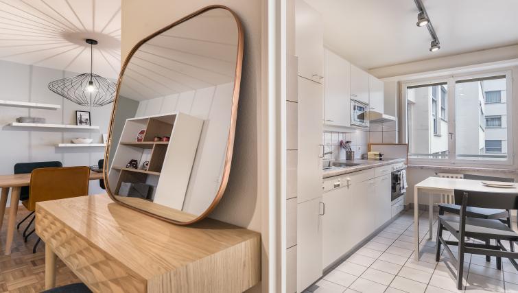 Kitchen view at Athenee Apartments - Citybase Apartments
