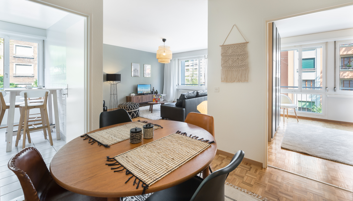 Dining table at Athenee Apartments - Citybase Apartments