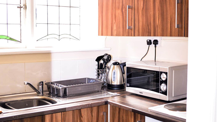 Microwave at  Orrell House Apartments - Citybase Apartments