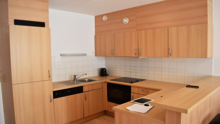 Kitchen facilities at Louise Residences - Citybase Apartments