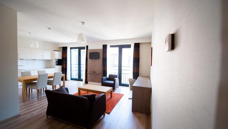 Living area at the Lambermont Residences - Citybase Apartments