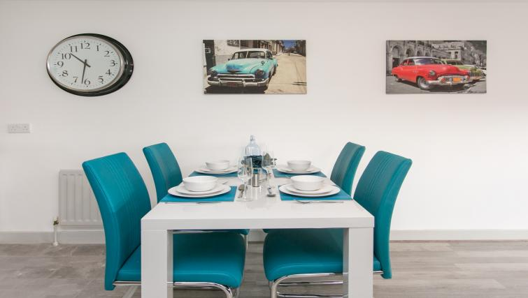 Dining area at the Sussex Place Apartment - Citybase Apartments