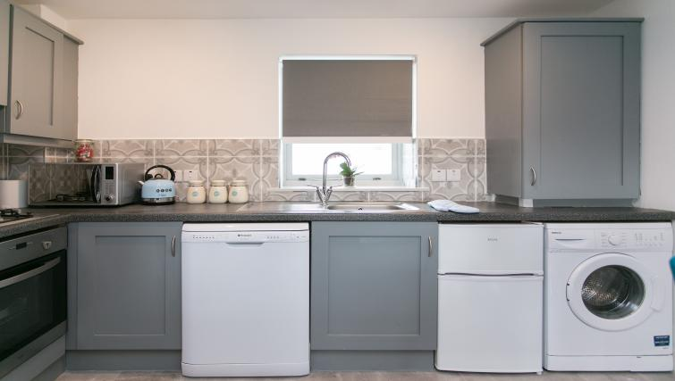 Kitchen facilities at the Sussex Place Apartment - Citybase Apartments