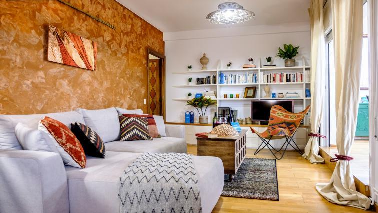Living area at Atic Eloi Apartment - Citybase Apartments