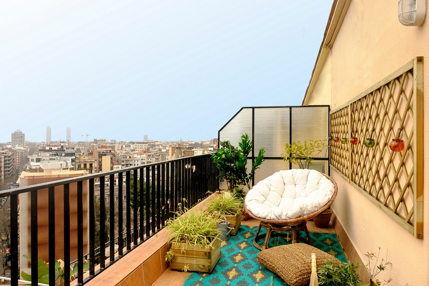 Balcony at Atic Eloi Apartment - Citybase Apartments