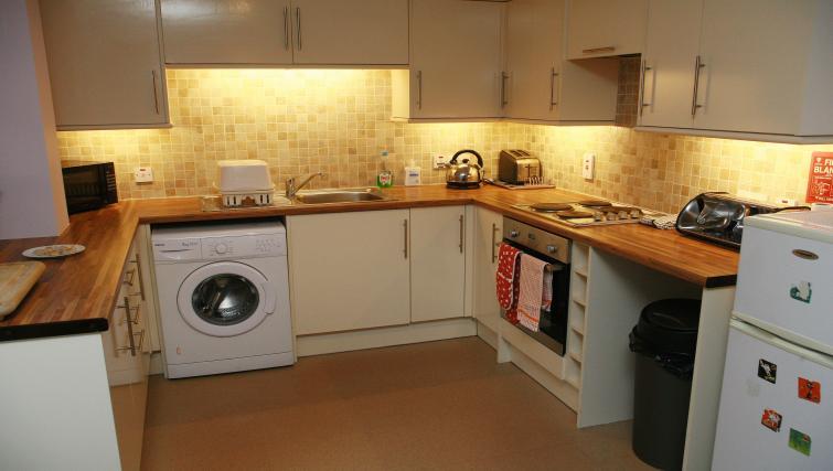 Kitchen area at the Glenlochy Nevis Bridge Apartments - Citybase Apartments