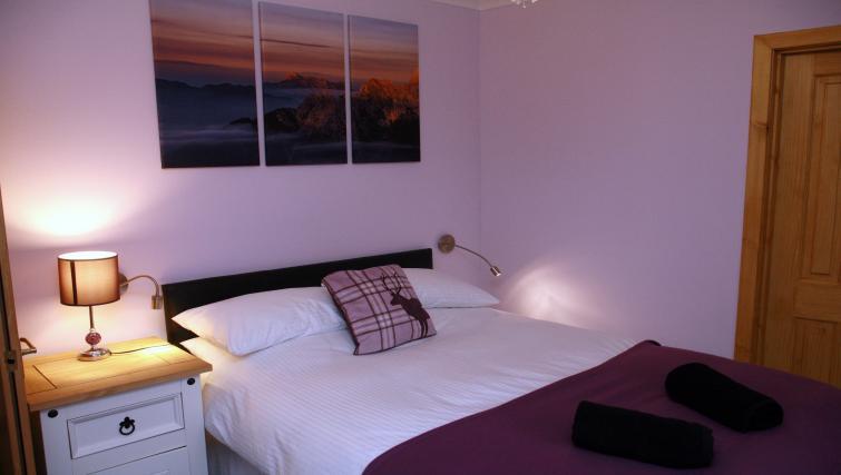 Bedroom at the Glenlochy Nevis Bridge Apartments - Citybase Apartments