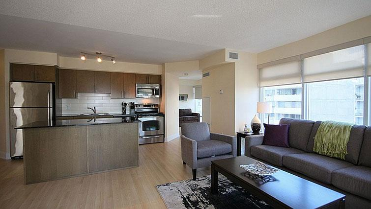 Living area at Quantum North Apartment - Citybase Apartments