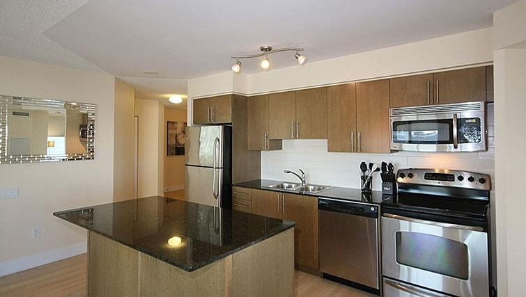 Kitchen at Quantum North Apartment - Citybase Apartments