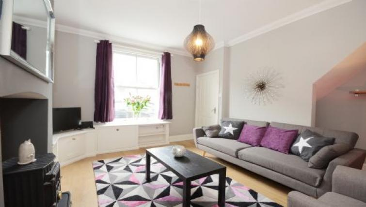 Living room at Hampden Street Apartment - Citybase Apartments