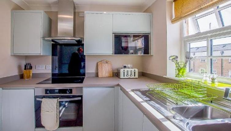 Kitchen facilities at The Boulevard Apartment - Citybase Apartments