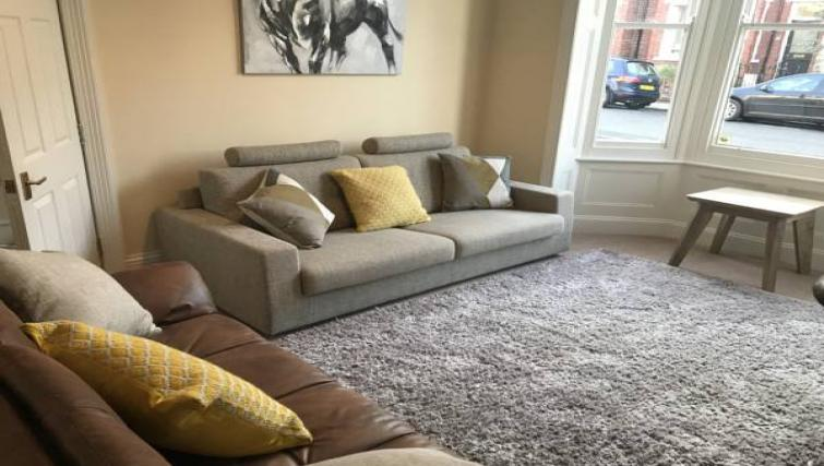 Living room at The Milfield Apartment - Citybase Apartments