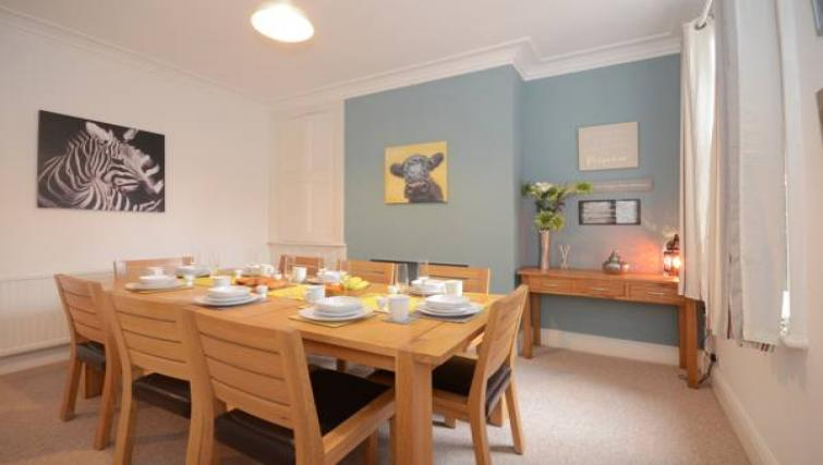 Dining table at The Milfield Apartment - Citybase Apartments