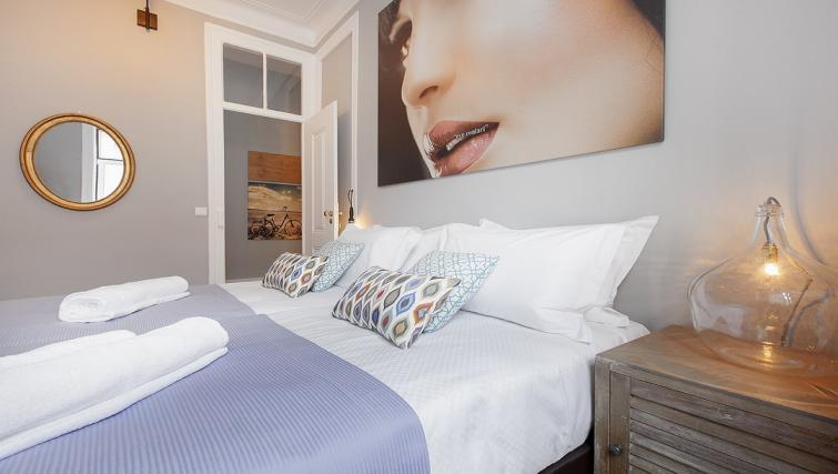 Big bed at the Bairro do Amor Apartment - Citybase Apartments