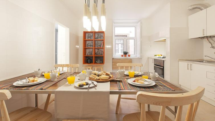Kitchen at the Bairro do Amor Apartment - Citybase Apartments