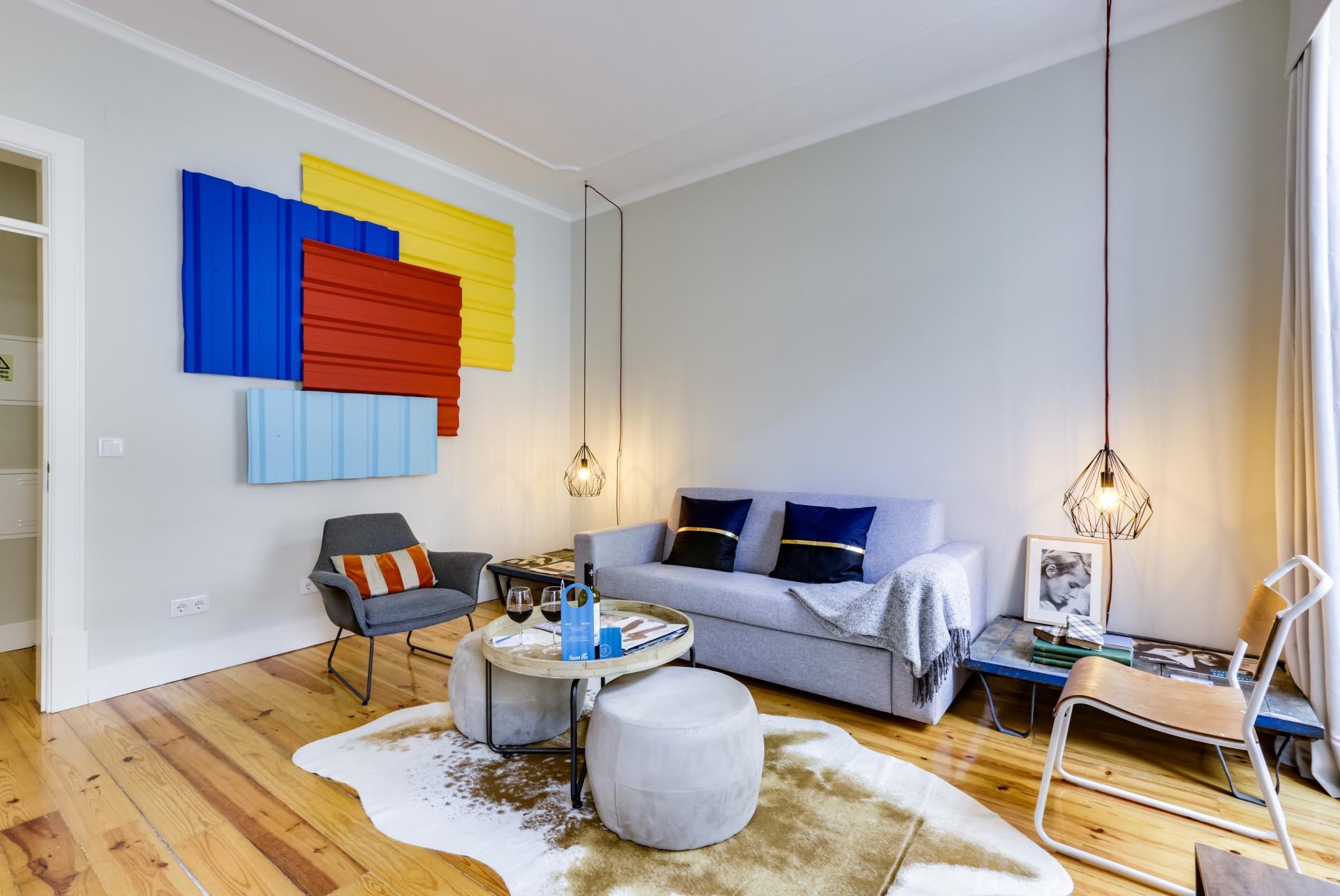 Living room at Prata Apartments - Citybase Apartments