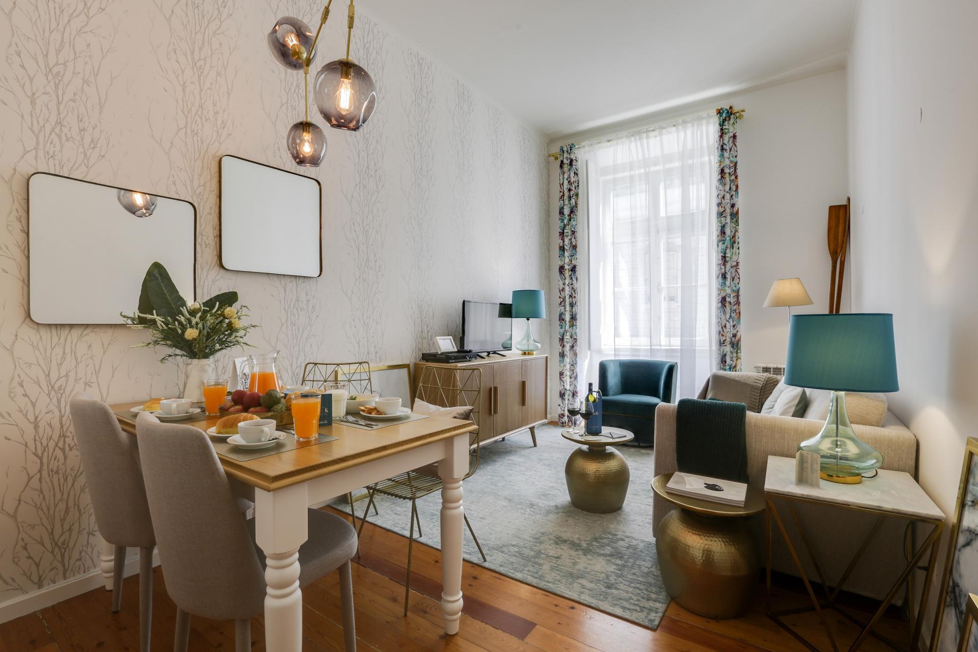 Charming lounge at Prata Apartments - Citybase Apartments