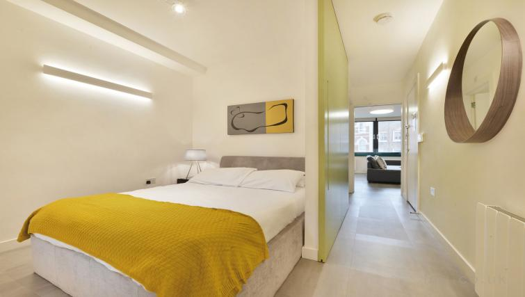 Double bed at Old Compton House Apartments - Citybase Apartments