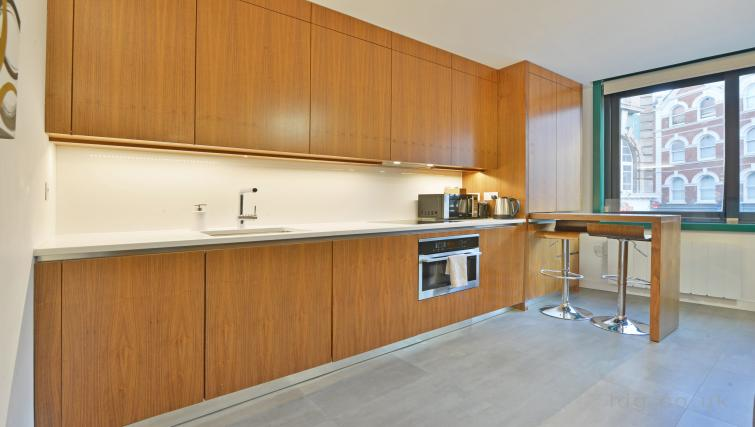 Kitchen at Old Compton House Apartments - Citybase Apartments