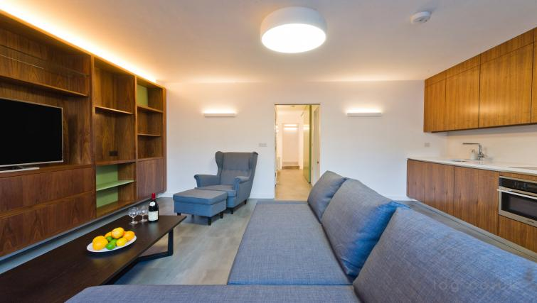 Spacious living room at Old Compton House Apartments - Citybase Apartments