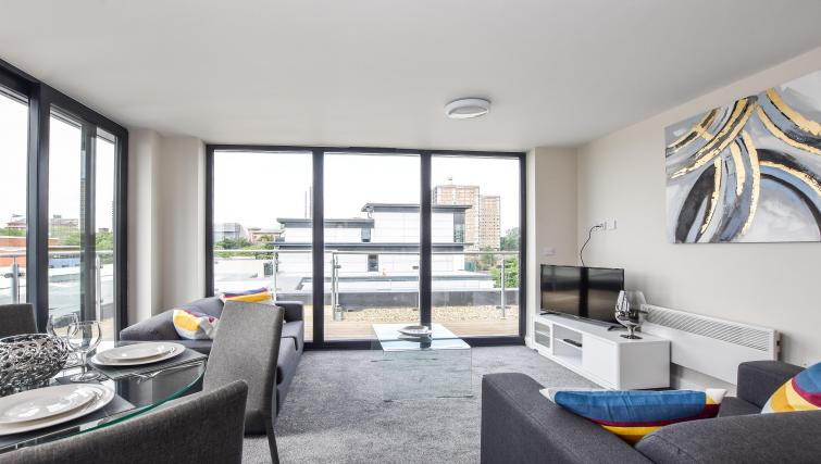 Lounge at the Victoria House Apartments - Citybase Apartments