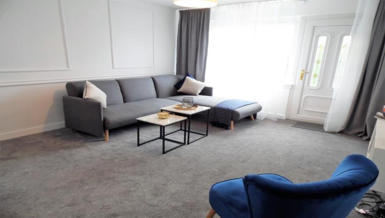 Living room at Ness View Apartment - Citybase Apartments