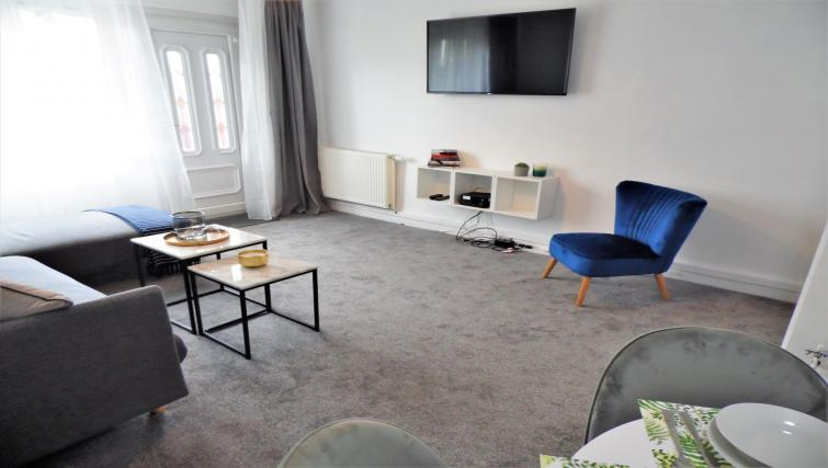 Modern lounge at Ness View Apartment - Citybase Apartments