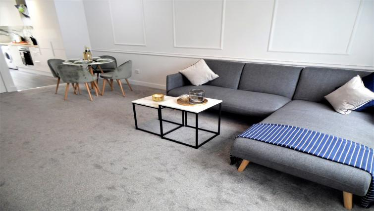 Coffee table at Ness View Apartment - Citybase Apartments